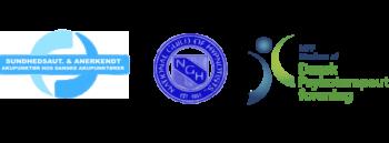 Danske akupunktører logo, NGH logo, Dansk Psykoterapeutforening logo