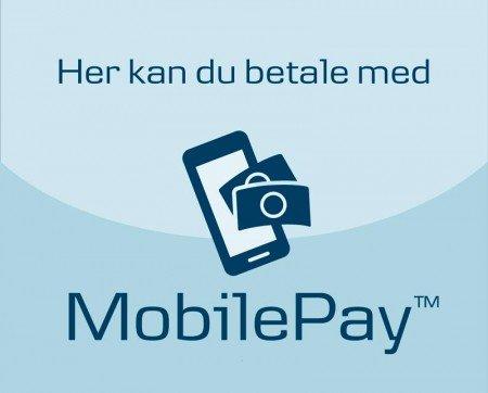 De opgivne priser kan betales kontant eller med mobilepay